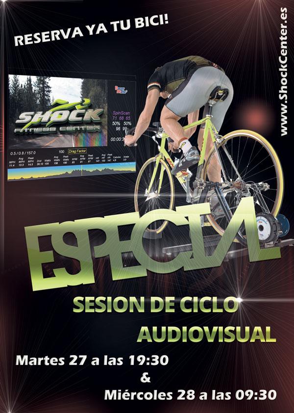Especial Ciclo Indoor auiovisual Shock Center