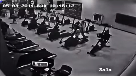 Foto caida elíptica Shock Center gimnasio